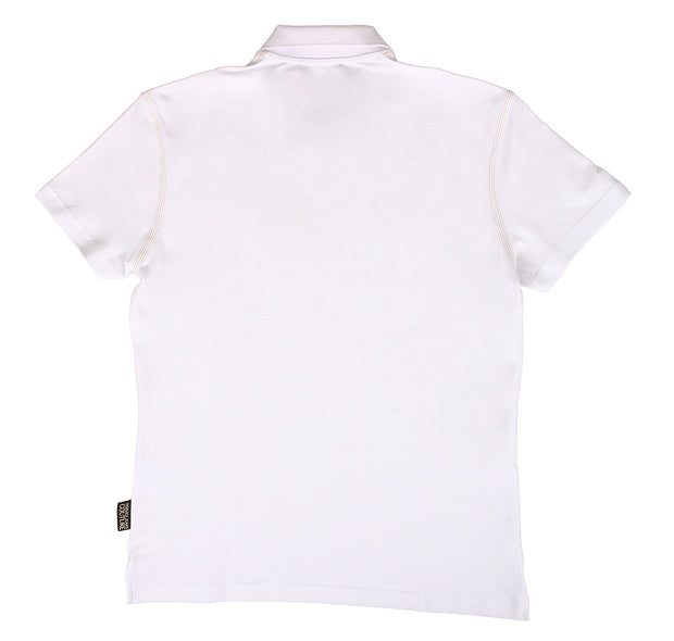 Versace Jeans Couture White 100% Cotton Short Sleeve Polo Zip Shirt-