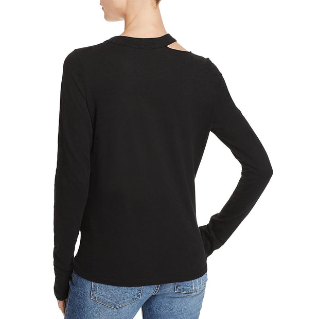 Philanthropy Womens Alexa Tie-Front Cut-Out T-Shirt