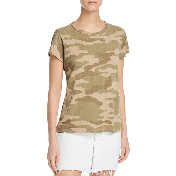 Womens Camouflage Crew Neck T-Shirt
