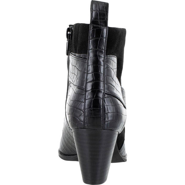 Elektra II Womens Faux Leather Ankle Block Heel Boot