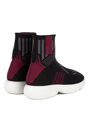Prada Womens Red Cloudbust High-Top Sneakers