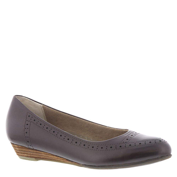 ARRAY Womens York Leather Pointed Toe Ballet Flats