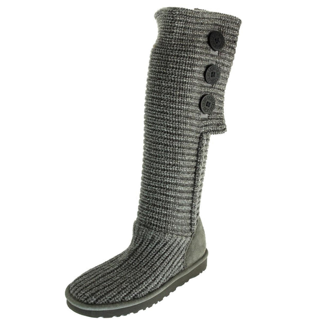 Cardy Womens Cable Knit Fold-Over Casual Boots