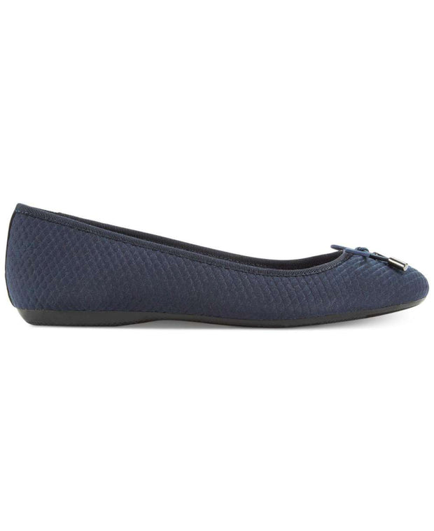 Alfani Womens Aleaa Leather Round Toe Ballet Flats