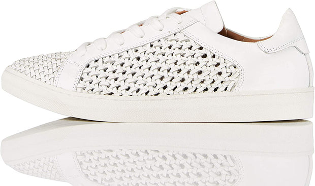 Brand - find. Women's Weave Leather Sneakers