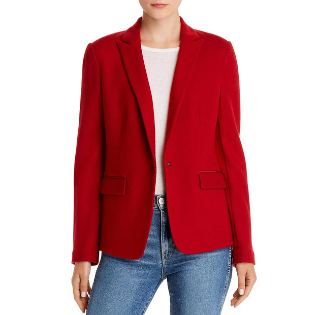Lexington Womens Wool Office One-Button Blazer