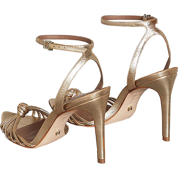 BCBG Max Azria Womens Delia Leather Metallic Dress Sandals
