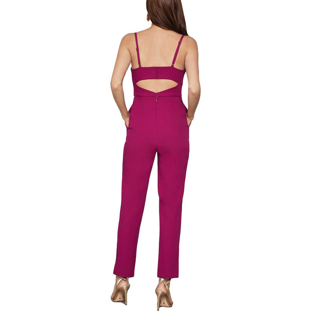 BCBG Max Azria Womens Sweetheart Cut Out Back Jumpsuit