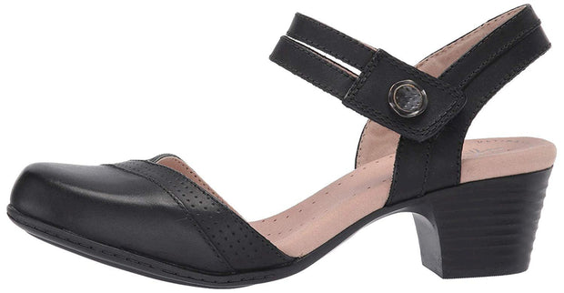 Clarks Women's Shoes Valarie Rally Leather Closed Toe SlingBack Classic Pumps