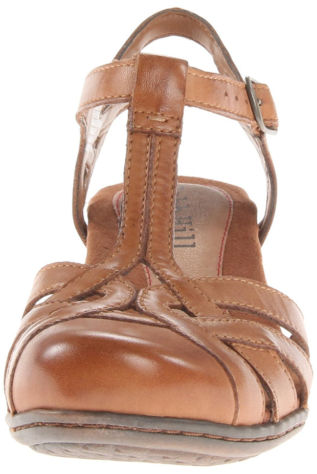 Cobb Hill Womens Aubrey Leather Closed Toe Casual T-Strap Sandals