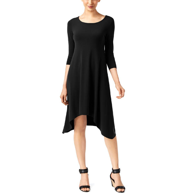Womens Handkerchief Hem Scoop-Neck Slip Dress