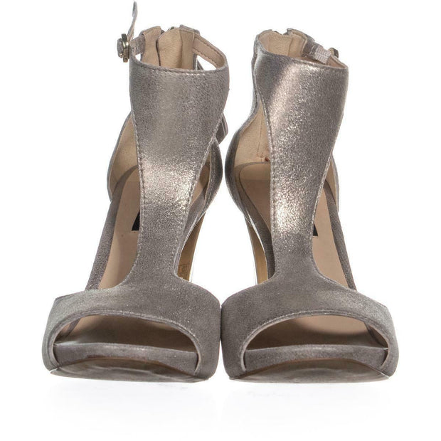 DKNY Womens Colby Leather Peep Toe Special Occasion T-Strap Sandals