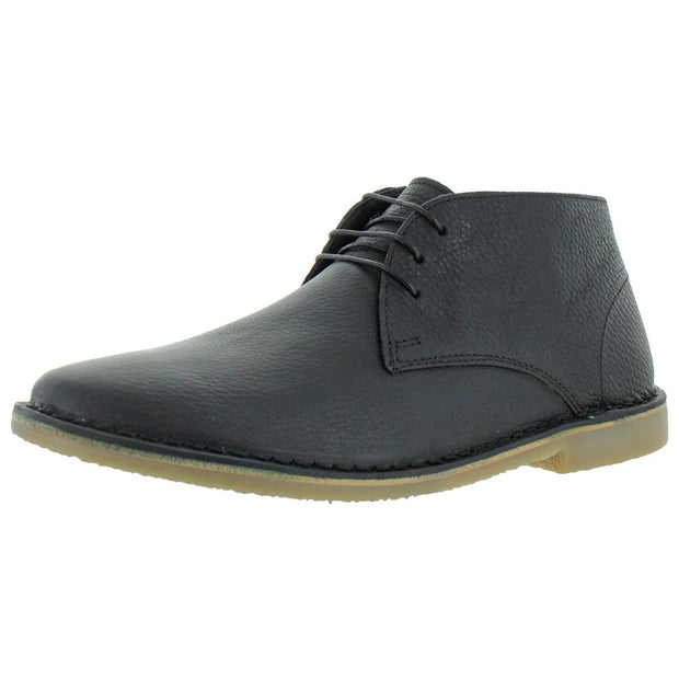 Hiller Mens Leather Lace Up Chukka Boots