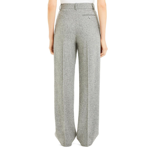 Womens Wool Pleated Pants