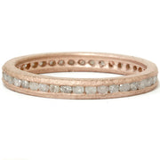 1/2ct Channel Rough Diamond Eternity Ring 14K Rose Gold
