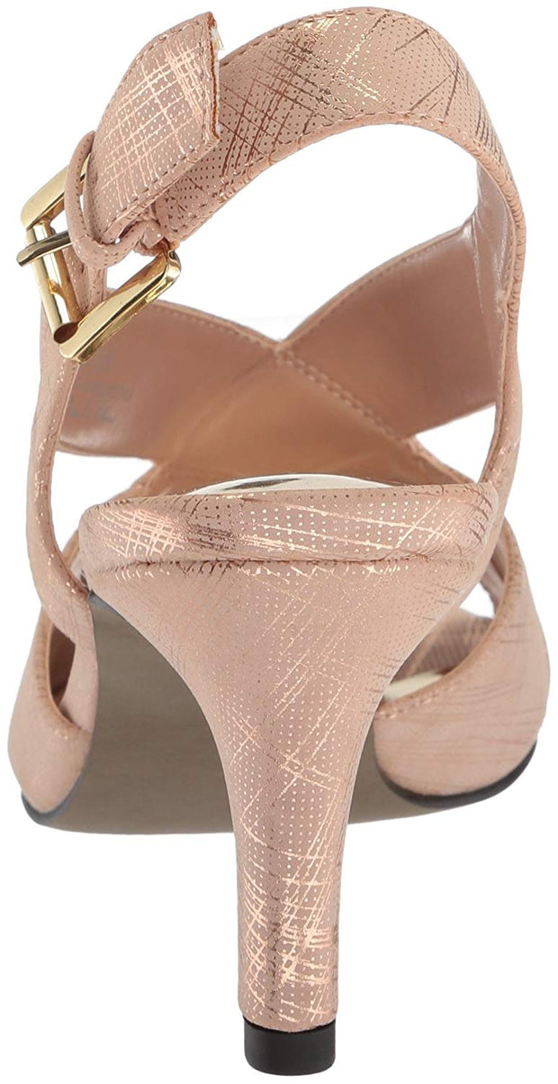 Easy Street Womens Cupid Peep Toe Special Occasion Slingback Sandals