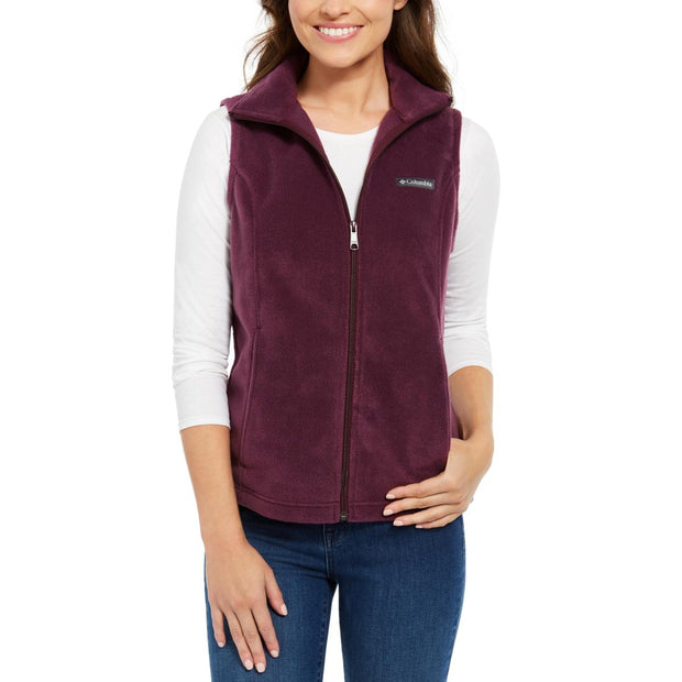 Womens Fleece Solid Outerwear Vest