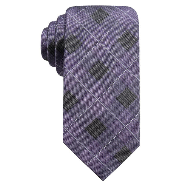 Clemsen Mens Silk Blend Plaid Neck Tie