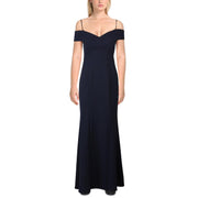 NW Nightway Womens Off-The-Shoulder Ruffled Formal Dress