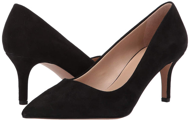 Franco Sarto Womens Tudor Suede Pointed Toe Classic Pumps