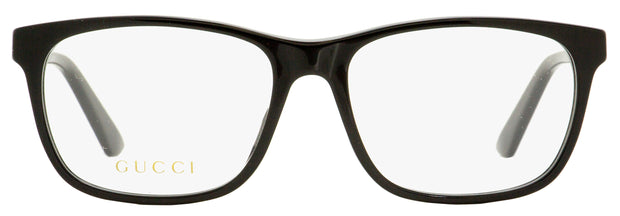 Gucci Rectangular Eyeglasses GG0490O 006 Black 55mm 490