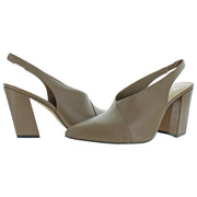 Sereneta Womens Leather Block Heel Slingback Heels