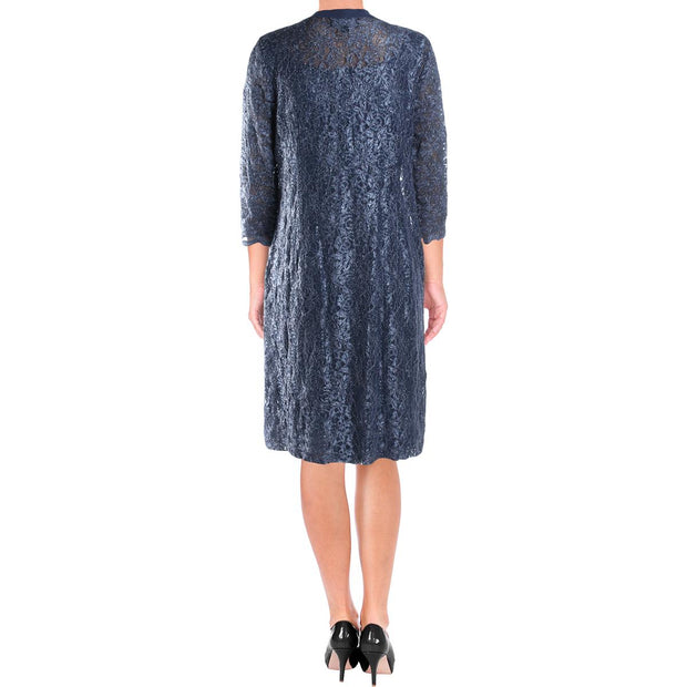 Alex Evenings Womens Lace Sheath Dress With Jacket