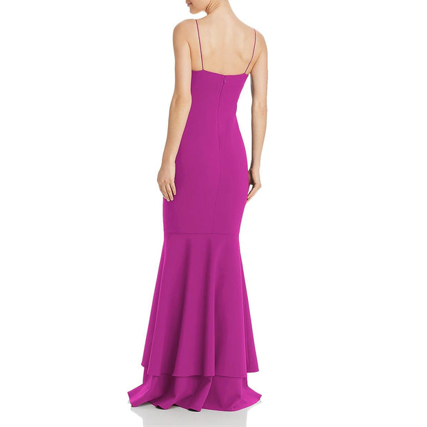 Likely Womens Aurora Spaghetti Straps Layered Evening Dress