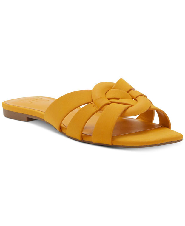 INC International Concepts Womens GARGI Leather Open Toe Casual Slide Sandals