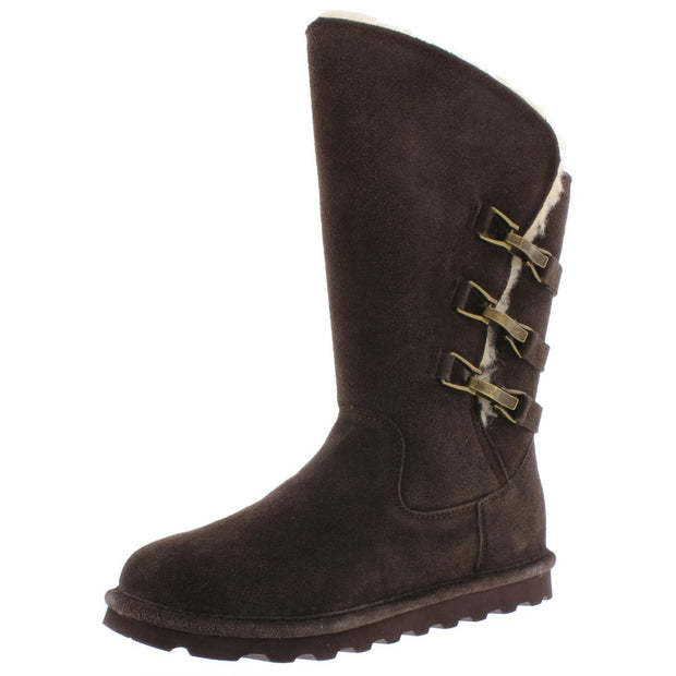 Jenna Womens Suede Fur Lined Winter Boots