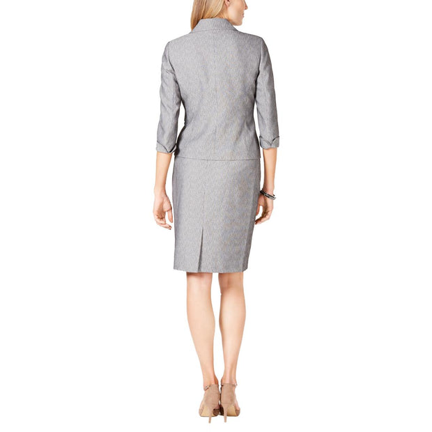Le Suit Womens Printed Business Skirt Suit