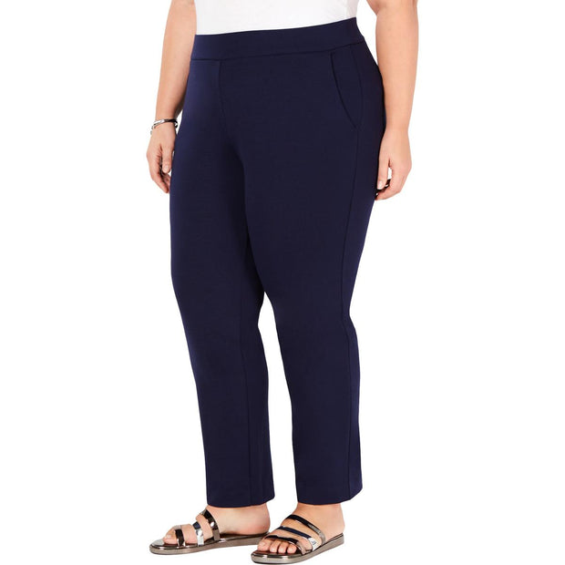 Womens Slimming Faux Pocket Cropped Pants