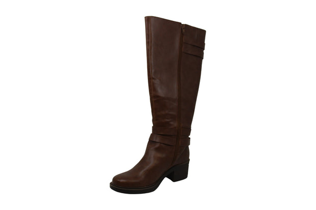 Jelly Pop Women's Lulza Leather Almond Toe Knee High Fashion Boots NEI