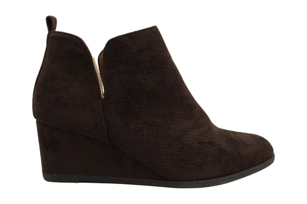 Journee Collection Women's Shoes Mylee Suede Almond Toe Ankle Fashion Boots