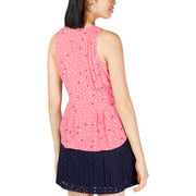 Womens Pintuck Polka Dot Camisole Top