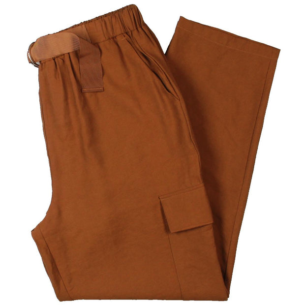 Womens Pull On High Waist Cargo Pants