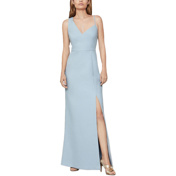 BCBG Max Azria Womens Asymmetric Side Slit Formal Dress