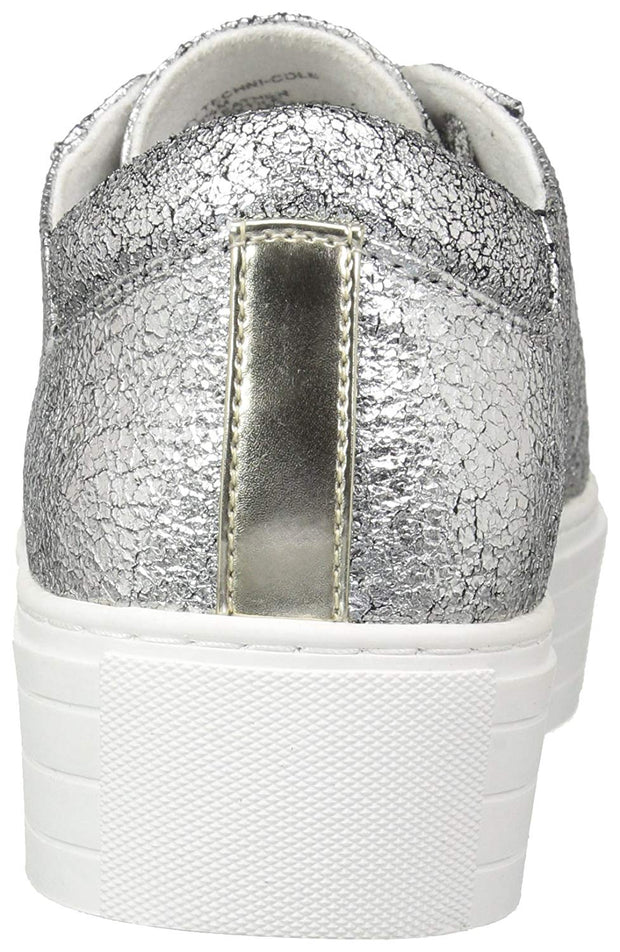 Kenneth Cole New York Womens Abbey Platform Lace Up Sneaker Metallic-Techni-Cole