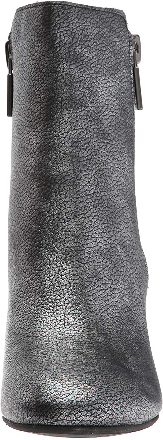 Kenneth Cole New York Women's Rima Bootie with Double Zip Block Heel Leather ...