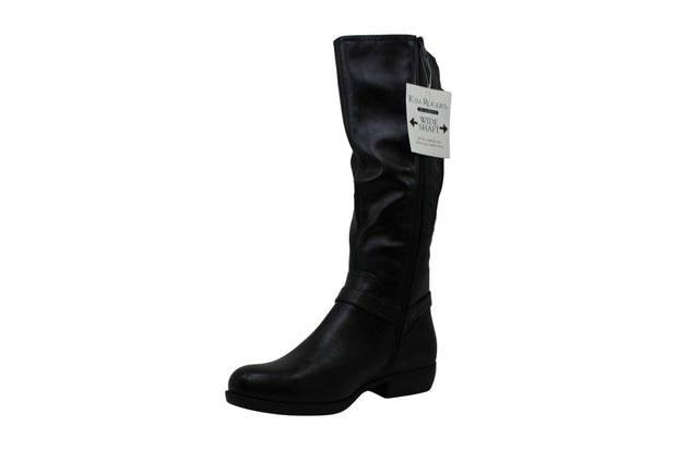 Kim Rogers Women's Jedda Leather Round Toe Knee High Fashion Boots ARV
