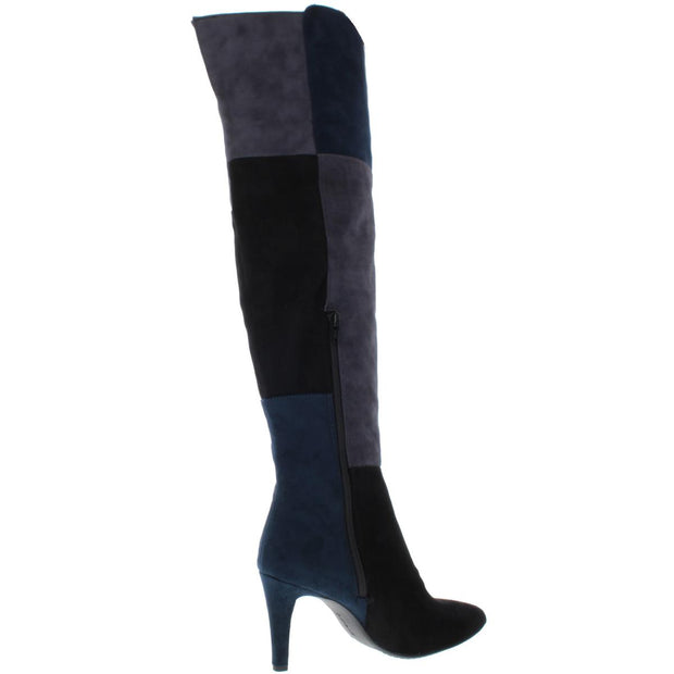 Carpio Womens Faux Suede Colorblock Over-The-Knee Boots
