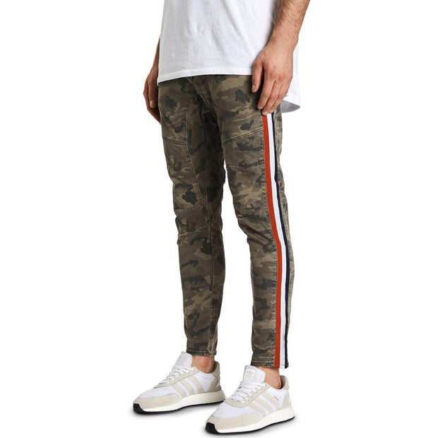NXP Mens Sergeant Camoflage Varsity Striped Pants