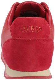 Lauren by Ralph Lauren Womens Cate Leather Low Top Lace Up Fashion Sneakers