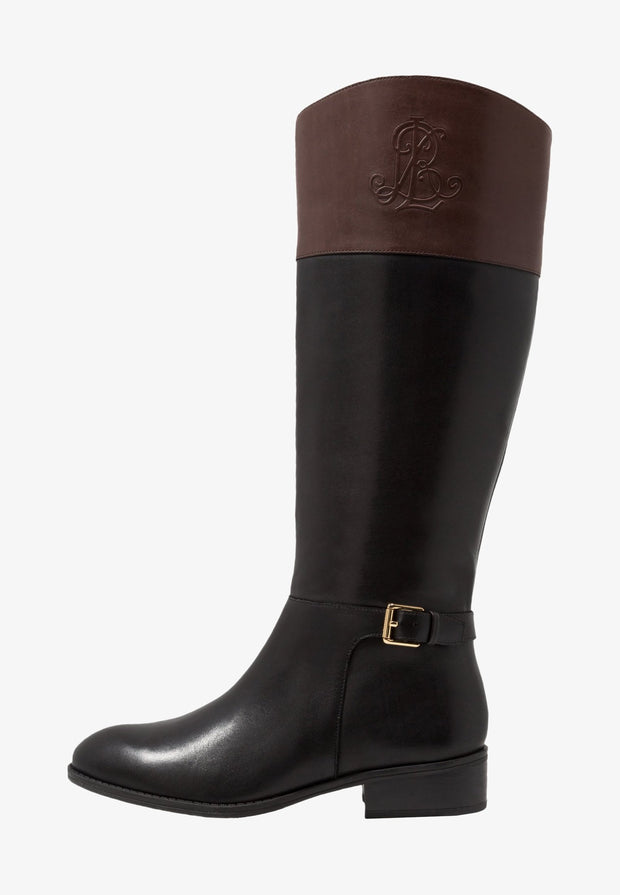 Lauren by Ralph Lauren Womens madisen Leather Closed Toe Knee High Fashion Bo...