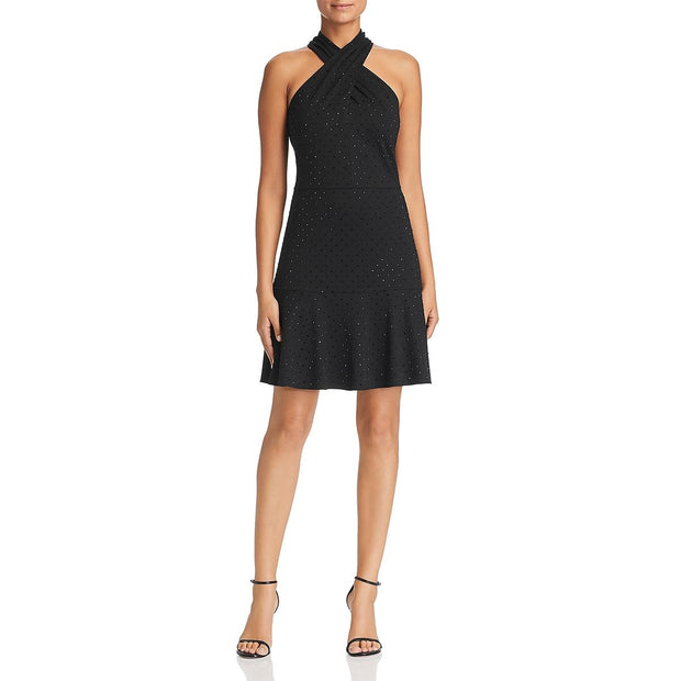 Le Gali Womens Sherry Party Embellished Cocktail Dress