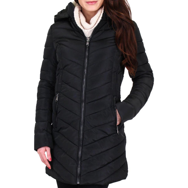 Womens Winter Quilted Puffer Coat
