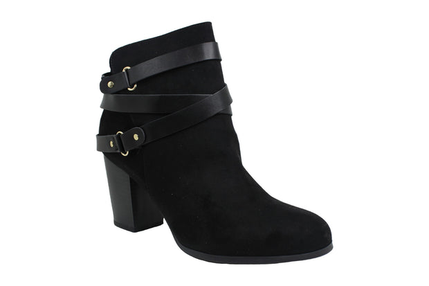 Material Girl Womens melany Leather Round Toe Ankle Fashion Boots