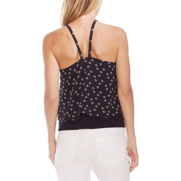 Vince Camuto Womens Printed Halter Tank Top