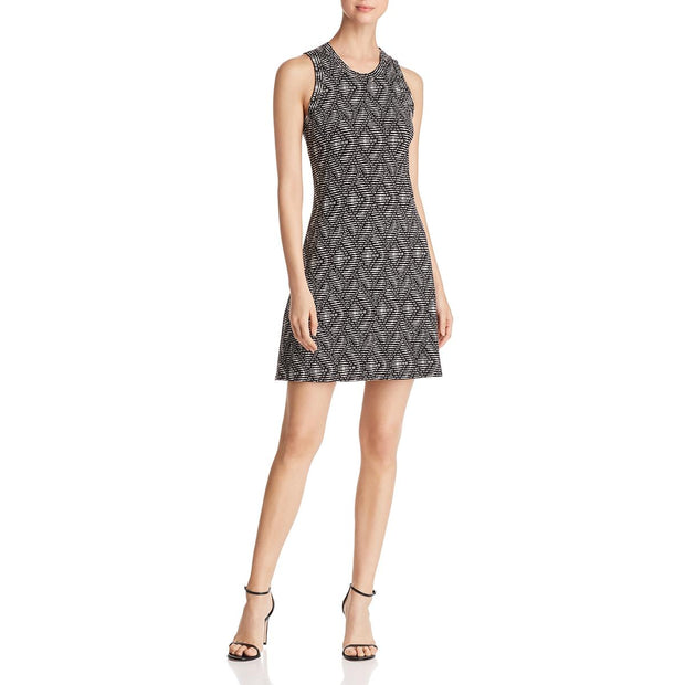 Robert Michaels Womens Halter Printed Mini Dress
