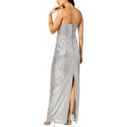 Adrianna Papell Womens Sequined Halter Evening Dress